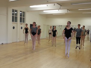 Senior dancers jumping at Highgate Ballet School