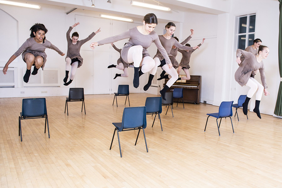 Choreographic Collective in flight